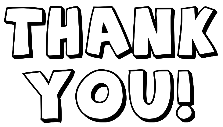 Thank You Clipart Black And White Thank You
